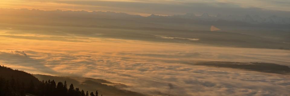 Solothurn Weissenstein Nebelmeer Morgenstimmung
